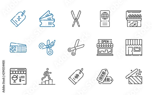Cuadros en Lienzo  coupon icons set