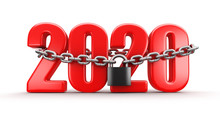 2020 And Lock (clipping Path Included)