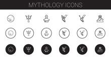 Mythology Icons Set