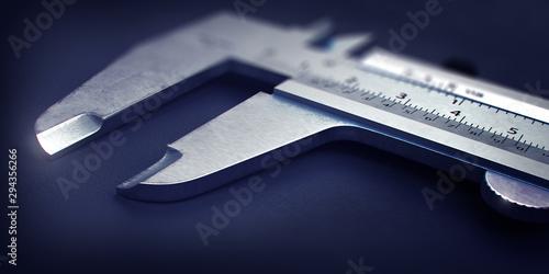 Photo Steel Caliper Tool Close Up