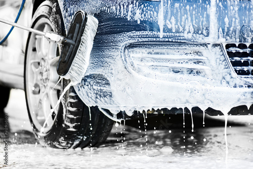 Car cleaning close up Fototapet