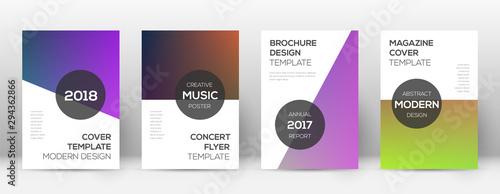фотография  Flyer layout. Modern popular template for Brochure