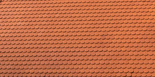 Real Clay Shingle Roof Tile Background Pattern