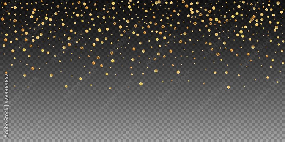 Fototapety, obrazy: Sparse gold confetti luxury sparkling confetti. Sc