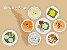 Top View Of Kerala Cuisine Set...