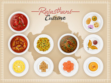 Top View Of Rajasthani Cuisine...