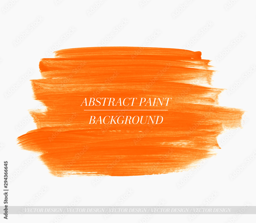 Fototapeta Brush paint stroke acrylic background. Art abstract texture design poster vector. Perfect design for headline, logo and sale banner.