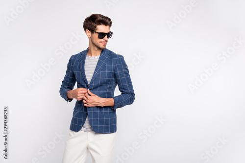 Fényképezés  Portrait of his he nice-looking attractive content luxury rich wealthy businessm