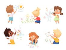 Kids Drawing. Children Artists...