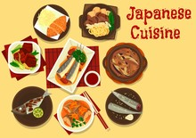 Japanese Fish And Meat Dishes ...