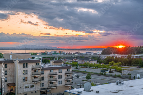 Anchorage Sunset Canvas Print