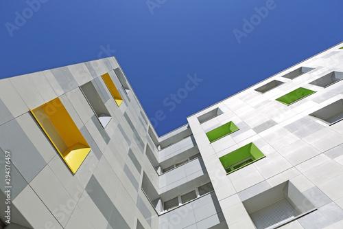Façade immeuble moderne faculté et cité universitaire Canvas Print