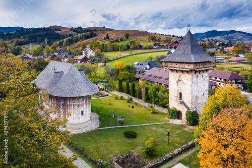 Cuadros en Lienzo Bucovina, Romania. Gura Humorului Monastery.