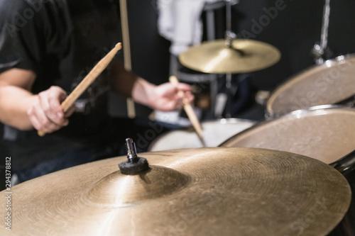 Fotomural Drummer playing drums