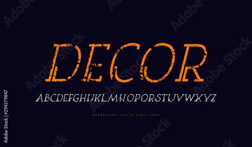 Obraz na plátně  Decorative clip italic serif font