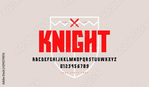Obraz na plátně  Decorative geometric sans serif font