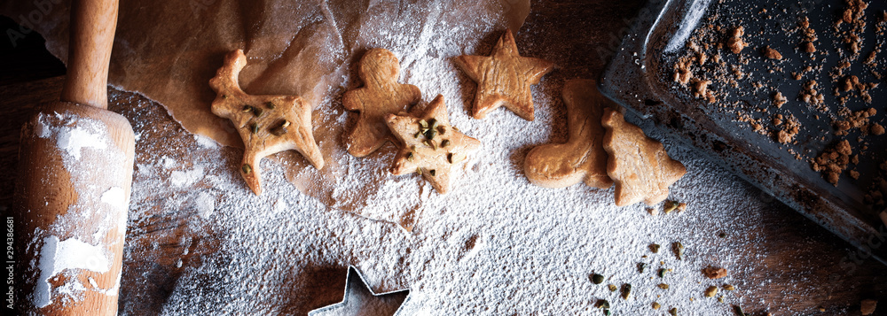 Fototapeta Homemade christmas cookies