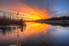 Beautiful Sunrise Over The Pon...
