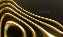 Organic Wavy Golden Stripes.