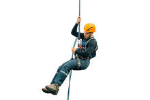 Industrial Climber Isolated On White Background