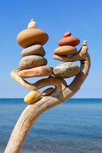Multicolored Balanced Stones O...