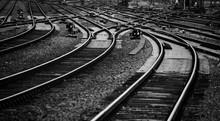 Schienen Gleise Eisenbahn Bahn...