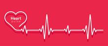 Heart Pulse. Heartbeat Line, C...
