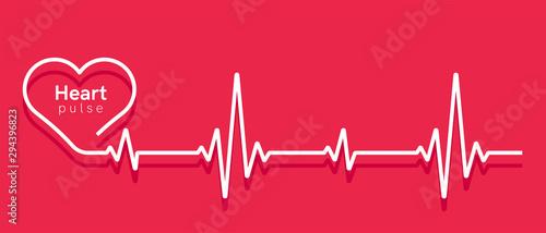 Heart pulse Wallpaper Mural