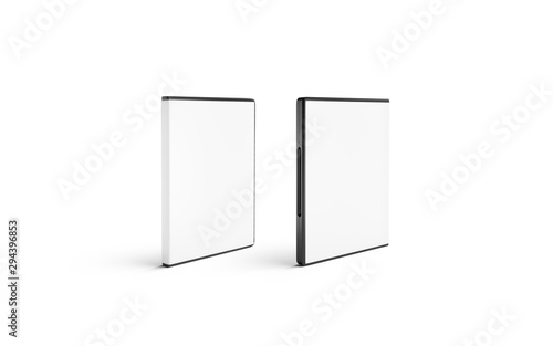 Fotomural  Blank white closed dvd disk case mockup stand isolated