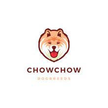 Chow Chow Dog Logo Vector Icon...