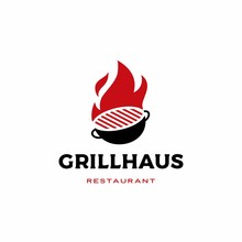Fire Grill Logo Vector Icon Il...