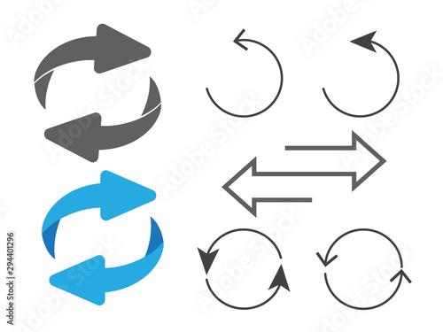 Fotomural  Rotating, circular, cyclic arrows