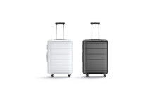 Blank Black And White Suitcase...