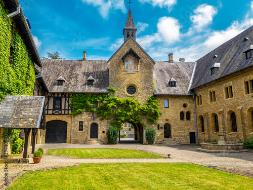 Photo Trappist Cistercian Orval Abbey or Abbaye Notre-Dame d'Orval, in Villers-devant-