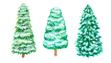 Christmas Snow Pine Tree Set H...