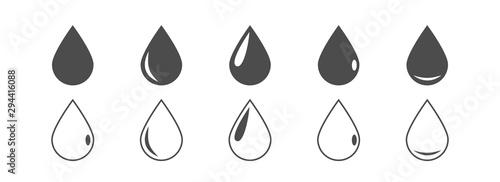 Vector drop icons Fototapeta