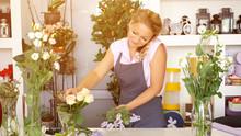 Professional Woman Florist Tal...