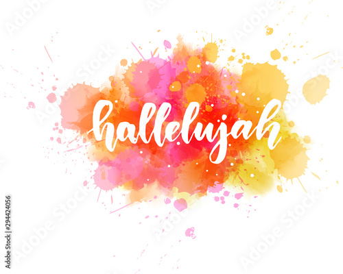 Photo Hallelujah lettering background