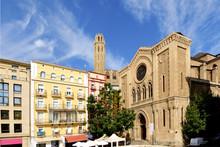 La Seu Vella Cathedral And Sant Joan Church, LLeida, Catalonia,Spain