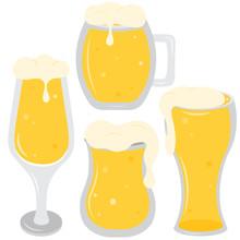 Set Glass Of Beer. Oktoberfest...