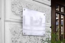 Blank Silver Glass Signboard O...
