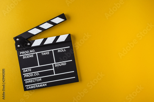 Tableau sur Toile Movie clapper board