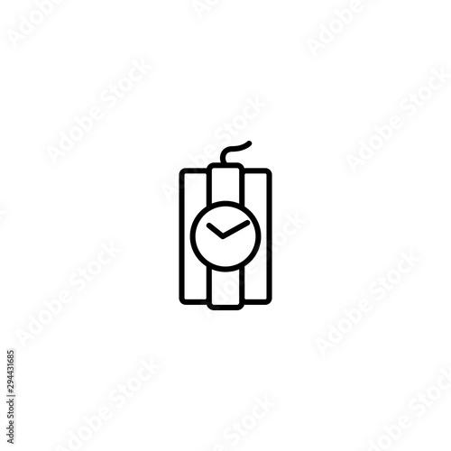 bomb explosion icon vector illustration Fototapet