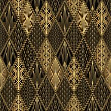 Art Deco Pattern. Seamless Bla...
