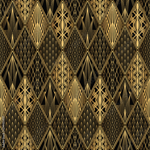 Tapety do gabinetu  art-deco-pattern-seamless-black-and-gold-background