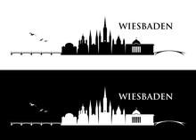Wiesbaden Skyline - Germany - Vector Illustration