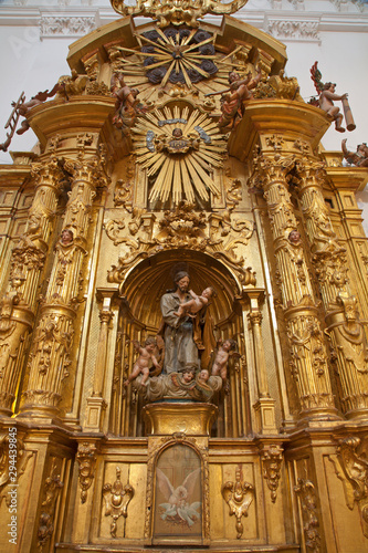 TOLEDO - MARCH 8: Baroque side altar of Saint Joseph from church Iglesia de san Idefonso on March 8, 2013 in Toledo, Spain.