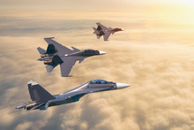 Group Of Three Aircraft Fighte...
