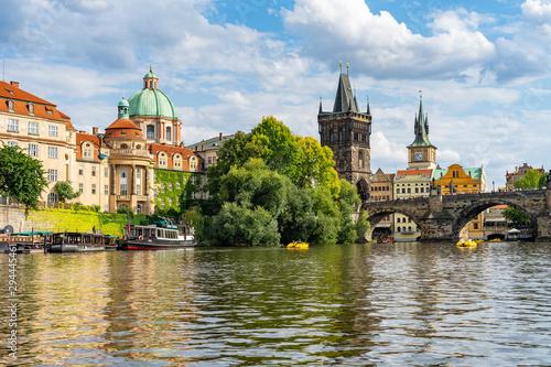 Poster Prague Charles Bridge Prague in Czech Republic.
