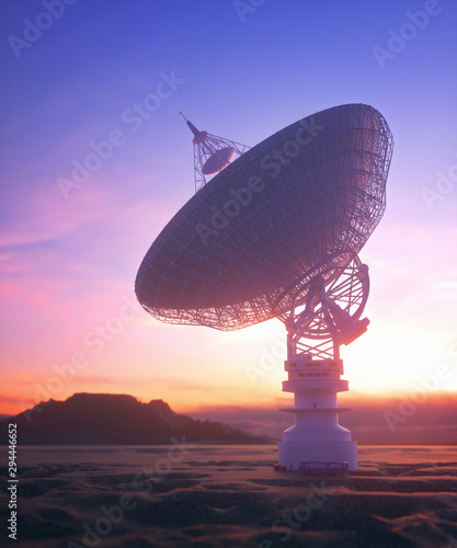 Antenna Satellite Dish Clipping Path Included Canvas Print
